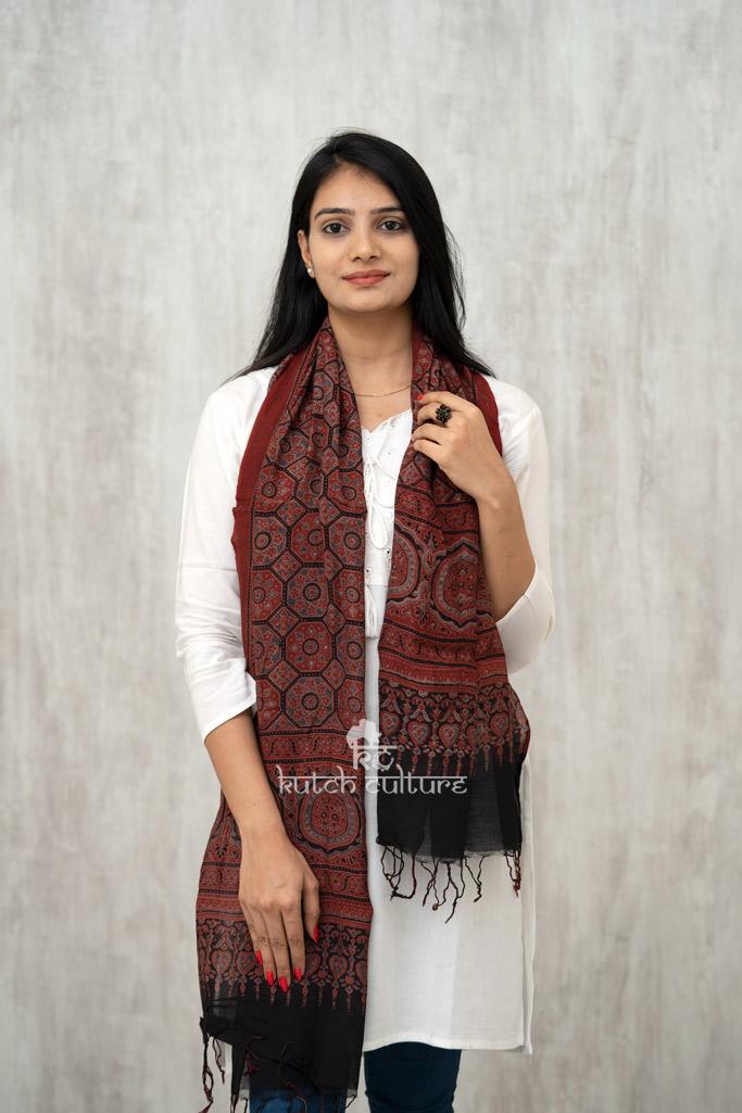 Cotton Silk Ajrakh Block Print Block